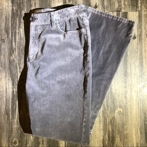 Chico's Gray Suede Straight Cut Pants